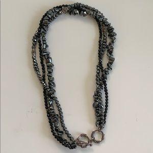 Silpada black necklace